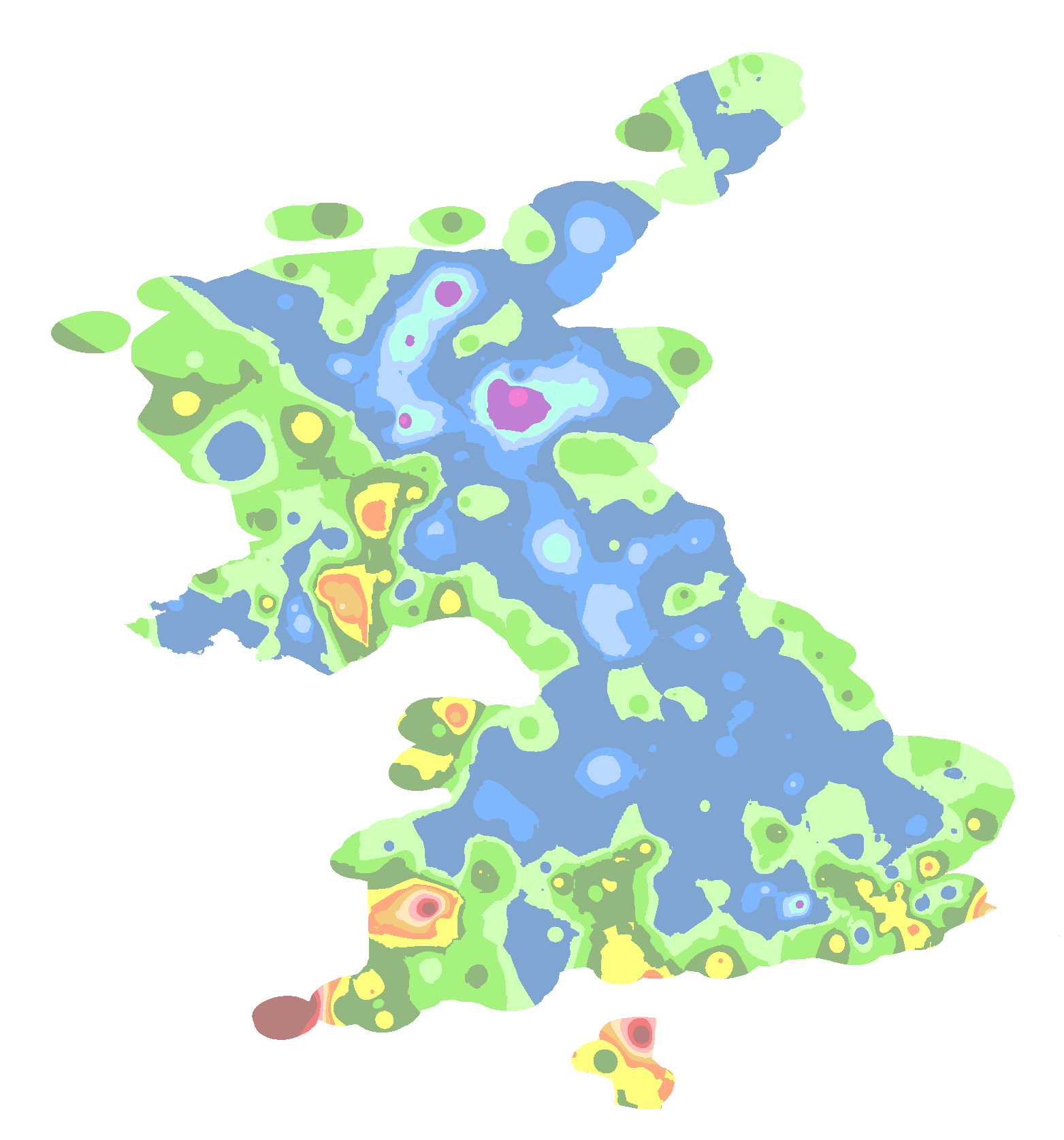 United Kingdom Interactive Last Frost Map - United kingdom clickable map